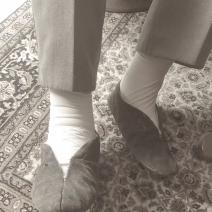 witte voetjes steunkousen lite